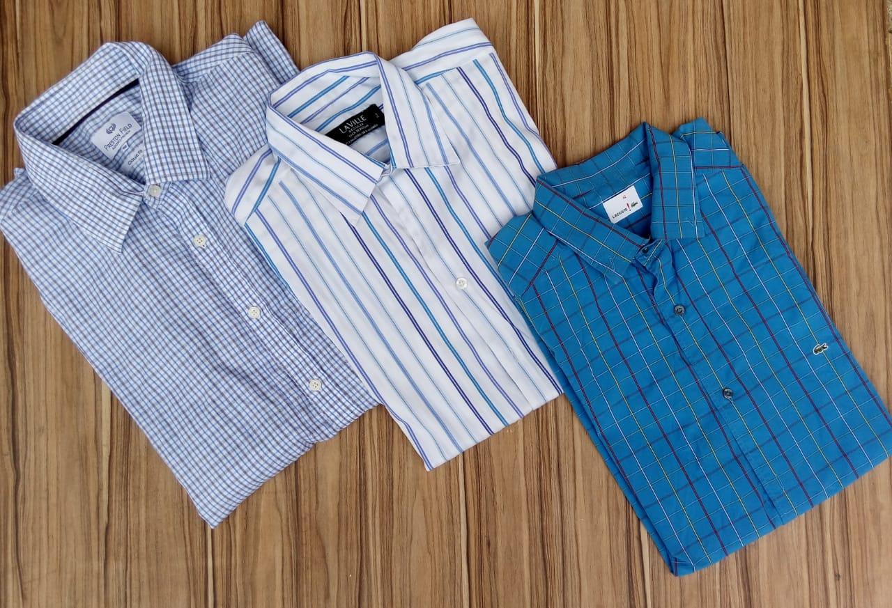 50 Peças masculinas entre calças e camisas 1º linha